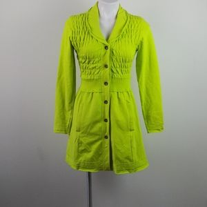 Katherine Barclay Bright Green Peacoat A-Line(XS)